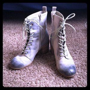 Anthropologie heeled booties